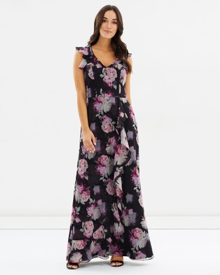 Review – After The Storm Maxi Dress Black & Multi