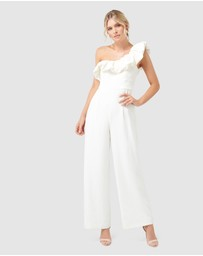 Forever New - Delilah Frill One Shoulder Jumpsuit