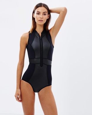Duskii – Temptation Tank Suit – One-Piece Swimsuit Black
