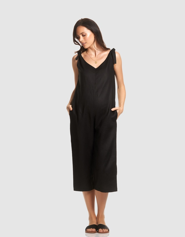 Soon Maternity - Linen Jumpsuit