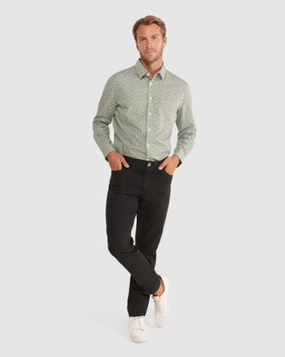 Sportscraft Tapered Bedford Jeans - Tapered (Black)
