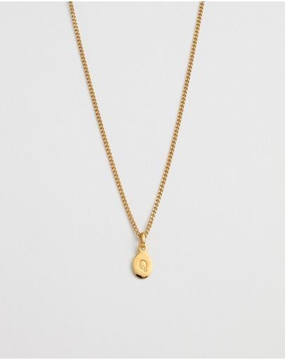 Kirstin Ash Initial Q Necklace 18k Gold Vermeil