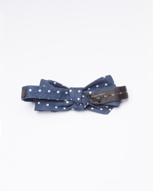 RUMI Denim Self Made Bow Tie - Ties (Navy)