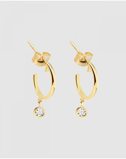 Luna Rae - Solid Gold - Diamond Sky Earrings