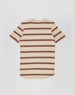 Free by Cotton On - Long Line Tee   Teens - T-Shirts & Singlets (Semolina Stripe) Long Line Tee - Teens