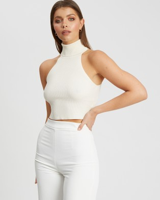 BWLDR Perrio Knit Top - Clothing (White)