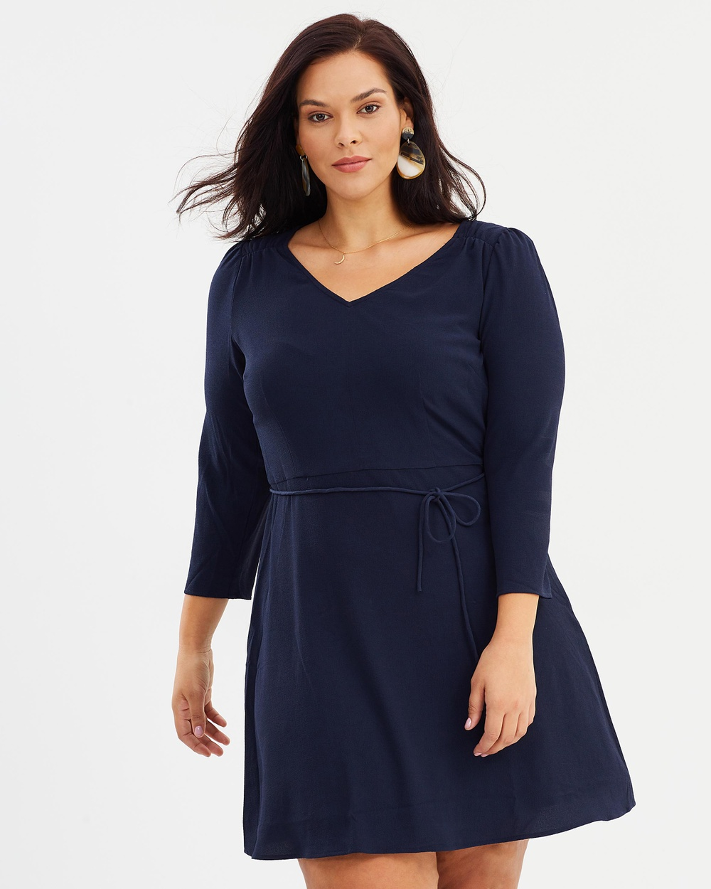 Violeta by MNG Resort Dress Dresses Navy Resort Dress