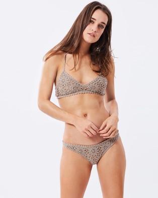 Bond-Eye Swimwear – Almost Famous Crochet Brief – Bikini Bottoms (Mocha)
