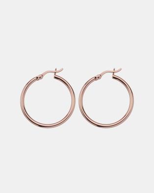 Najo Simple Hoops 25mm - Jewellery (Rose)