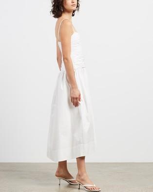 Shona Joy Amaia Ruched Midi Dress - Dresses (Ivory)