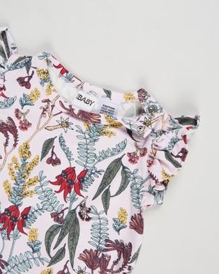 Cotton On Baby The Sleeveless Ruffle Bubbysuit   Babies - Bodysuits (Lavender Fog & Sharon Floral)