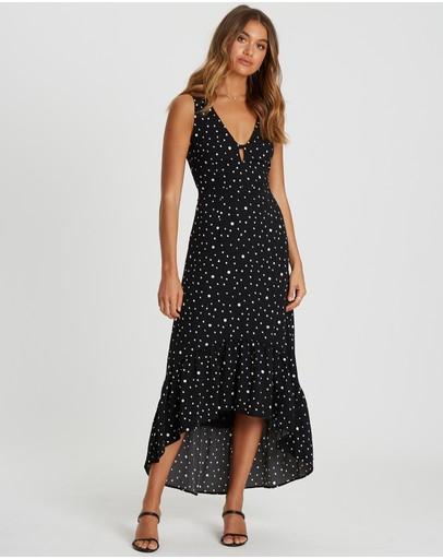 Chancery Anthea Midi Dress Black Spot