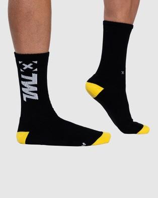 The WOD Life Everyday Core Socks - Underwear & Socks (BLACK/YELLOW)