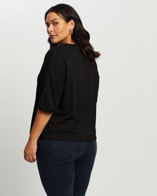 Atmos&Here Curvy - Ann Relaxed Tee - T-Shirts & Singlets (Black) Ann Relaxed Tee