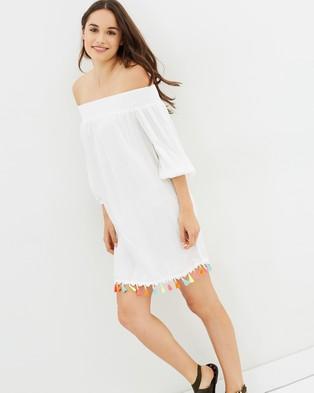 Living Doll – Tassel Dress – Tops White