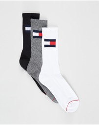 Tommy Hilfiger - Flag Tube Crew Socks 3-Pack - Unisex