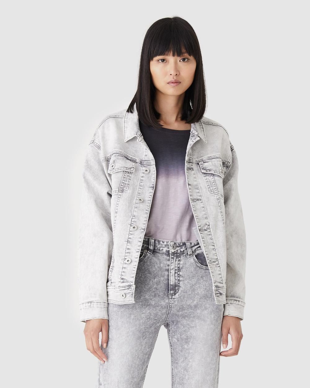 Jac & Mooki Delta Trucker Jacket Denim jacket grey wash Australia