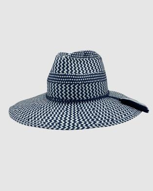 Jacaru Jacaru 1864 Navy & White Paper Hat - Hats (Blue)