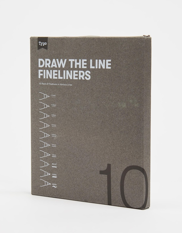 Men Draw The Line Fineliners 10-Pack