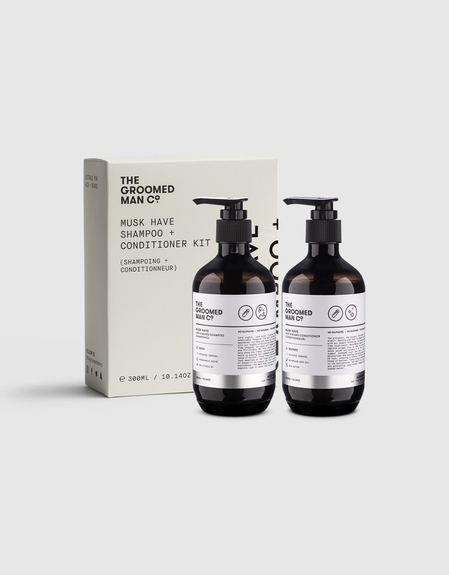 The Groomed Man Co - Musk Have Hair & Beard Shampoo Conditioner Kit