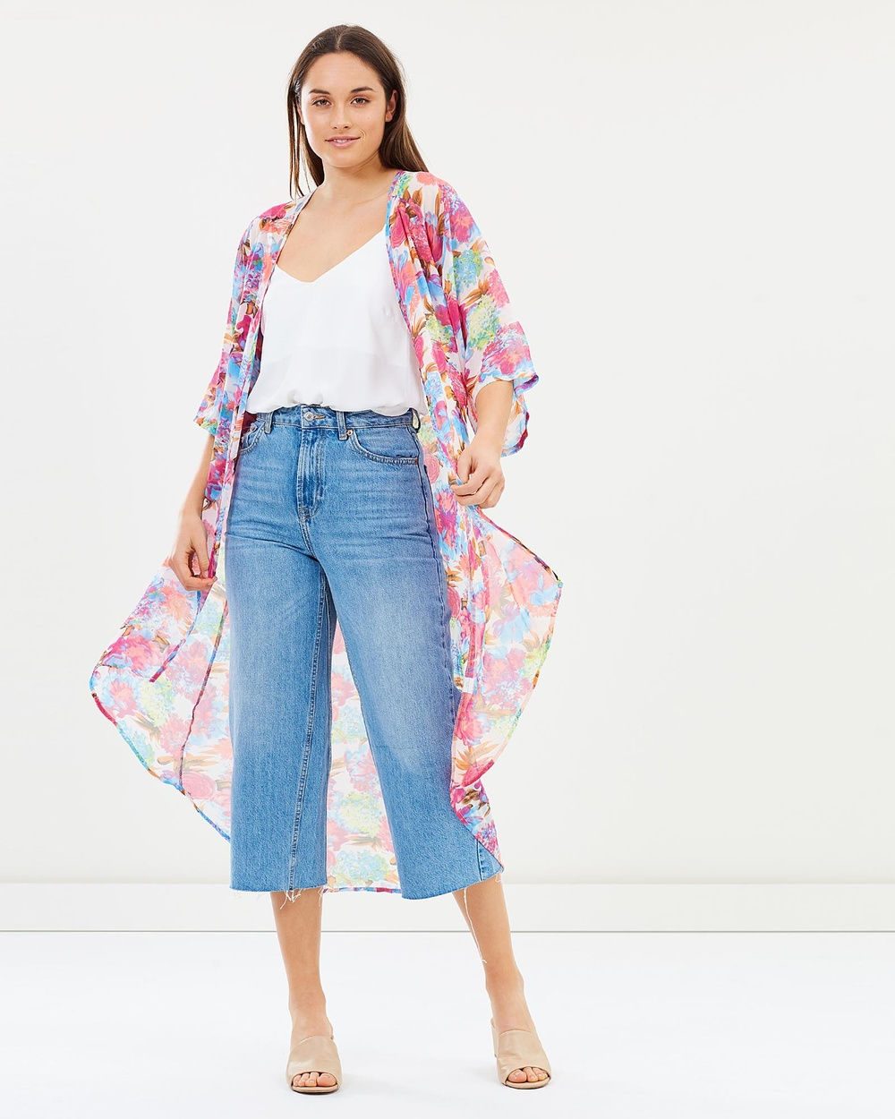 Dreams In Colour Macey Floral Cape Swimwear Pink Macey Floral Cape