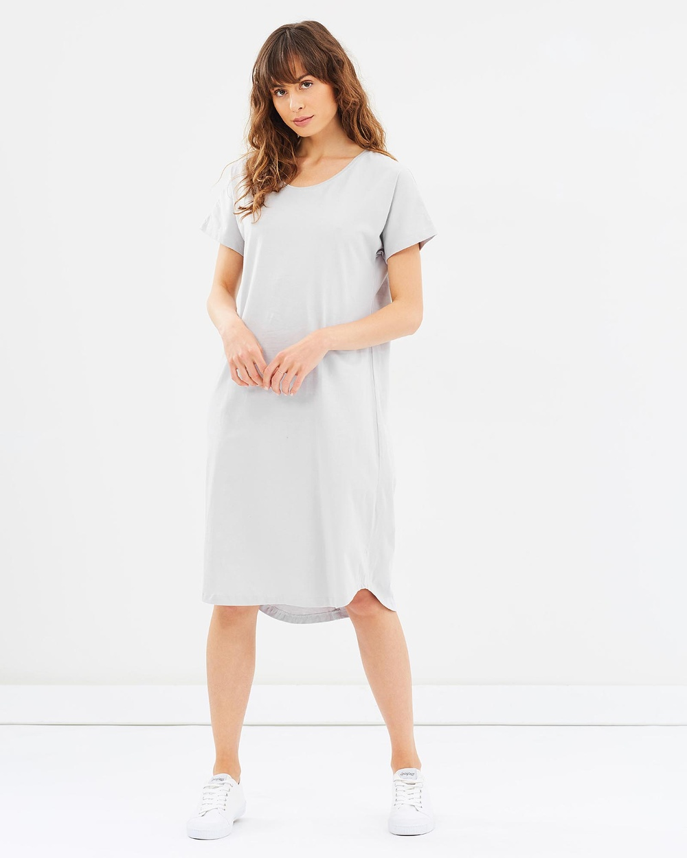 Cloth & Co. Organic Cotton Long T Shirt Dress Dresses Grey Organic Cotton Long T-Shirt Dress