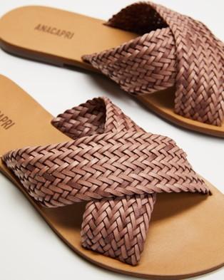Anacapri Tresse Flats - Sandals (Rosa Antik)