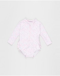 Bebe by Minihaha - Sienna Sequin LS Swimsuit - Babies