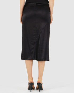 Amelius Saville Satin Skirt - Leather skirts (Black)