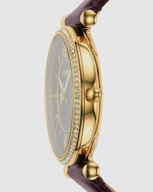 Fossil Carlie Brown Analogue Watch - Watches (Brown)