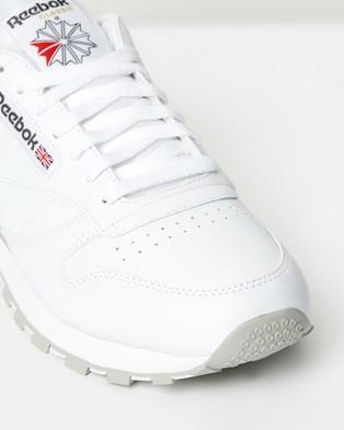 Reebok Classic Leather   Unisex - Sneakers (Intense White & Light Grey)