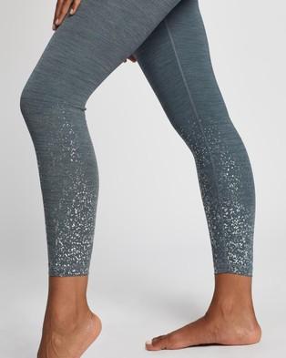 Sweaty Betty Contour Foil 7 8 Workout Leggings - 7/8 Tights (Blue Terrazzo Placement Print)