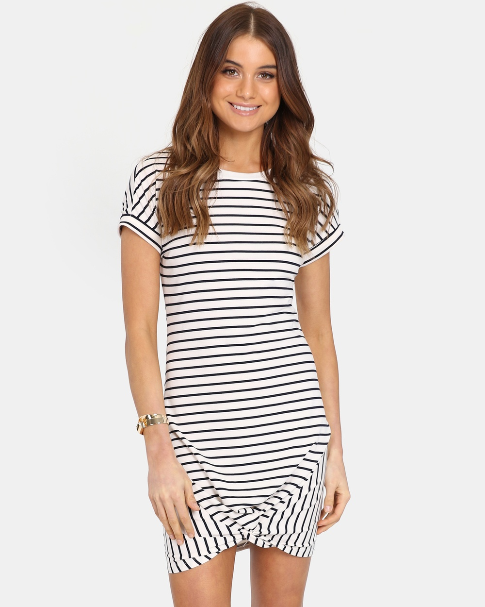 Madison The Label Cream Strike Out Dress