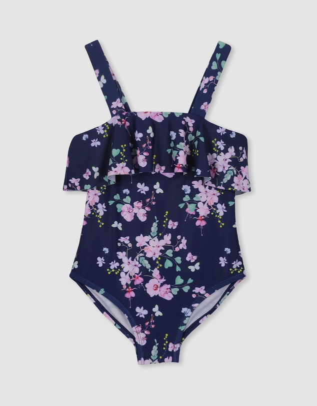 Milky - Floral Frill Swimsuit - Babies