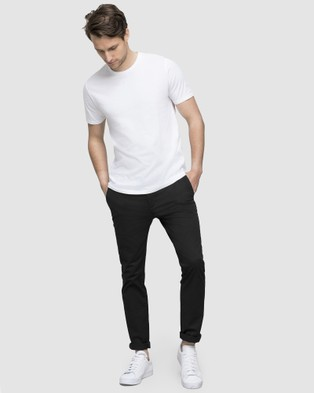 Wayver Slim Stretch Chinos - Pants (Black)