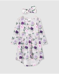 Milky - Rosebloom Dress & Headband Set - Kids