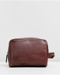 Double Oak Mills - George Leather Washbag