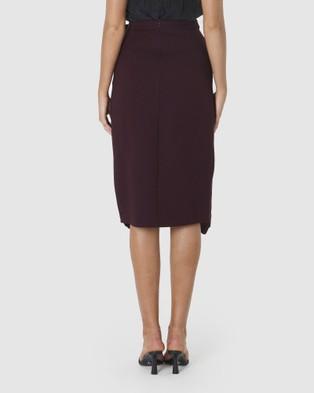 Amelius Dazed Skirt - Skirts (Burgundy)