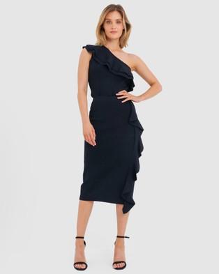 Forcast Demi Ruffle Midi Skirt - Skirts (Black)