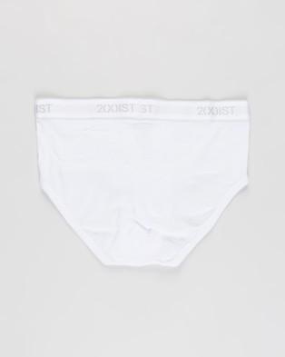 2xist - Essentials Contour Pouch Briefs 3 Pack (White) 3-Pack
