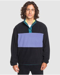 Quiksilver - Mens Iacu Polar Half Zip Polar Fleece