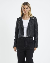 Neon Hart - Stella Leather Look Biker Jacket