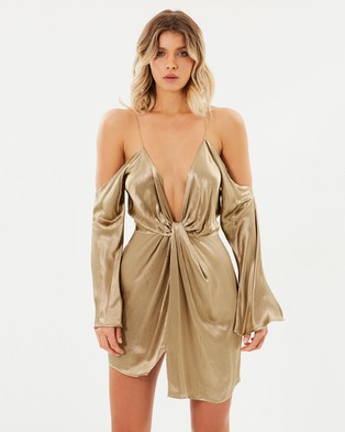 Bec & Bridge – Shimmy Nights Mini Dress Gold
