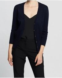 David Lawrence - Puffed Shoulder Cardigan
