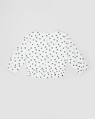 Abercrombie & Fitch Wrap Fashion Top Teens Tops White Dot