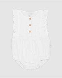 Peggy - August Broderie Playsuit - Babies