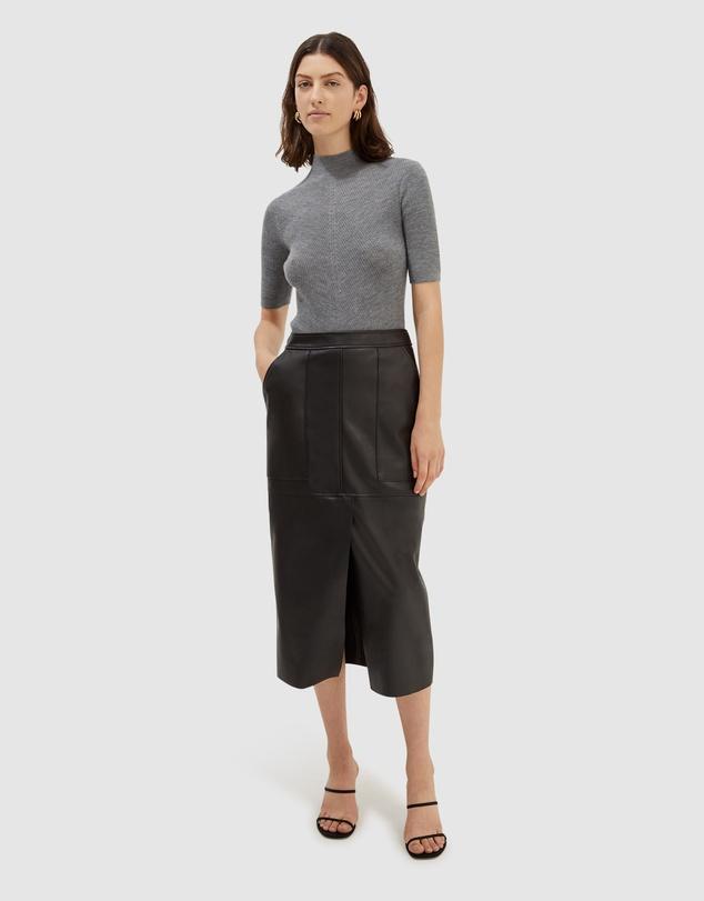 Women Nic Chevron Knit Short Sleeve Top