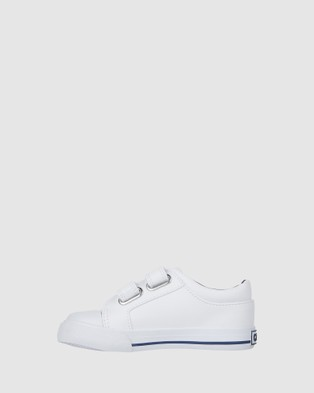 CIAO - Mike Stripe Sneakers (White/Navy/Red)