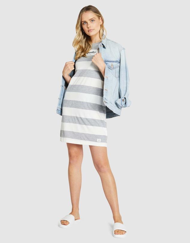 Superdry Womens Darcy Striped T-Shirt Dress