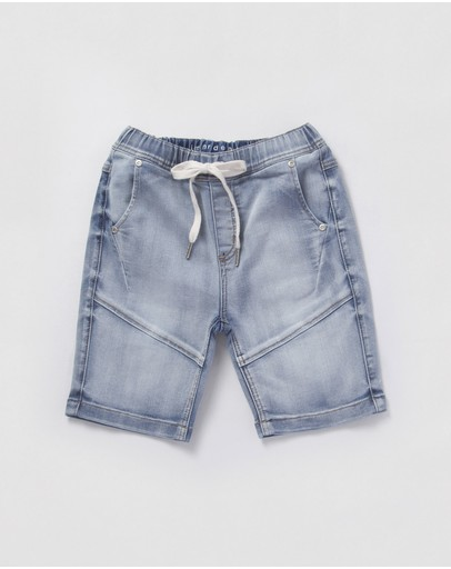 jac & mooki jnr - Denim Jogger Short